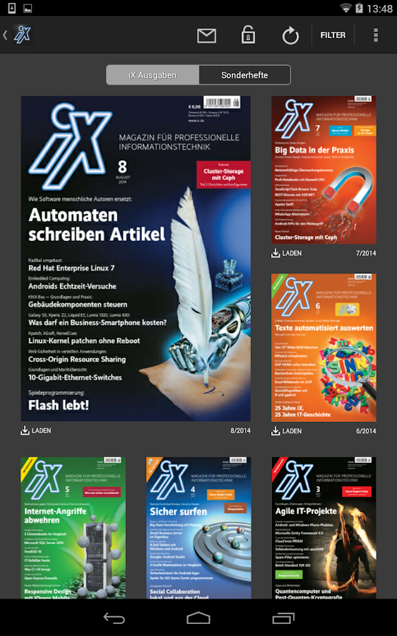 iX Magazin – Screenshot