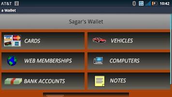 Screenshot of a Wallet