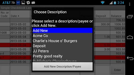 simple checkbook ledger free apprecs