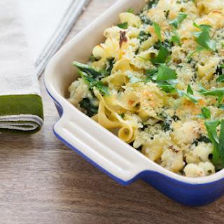 Creamy Kale & Cauliflower Casserole with Horseradish