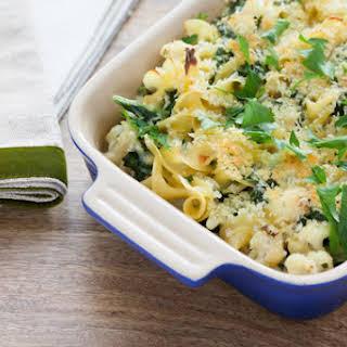 Creamy Kale & Cauliflower Casserole with Horseradish.