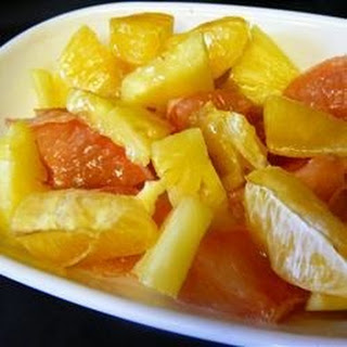 Warm Winter Citrus Dessert.