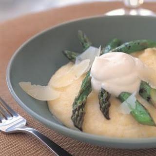 Creamy Polenta with Asparagus.