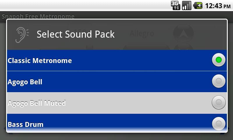 Snapoh Free Metronome- screenshot