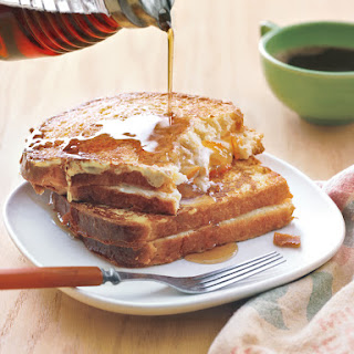Cheese-and-Marmalade French Toast Sandwiches.