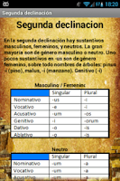 Screenshot of Declinaciones de Latín