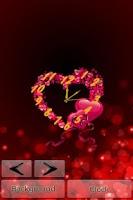 Screenshot of Heart Clock LiveWallpaper Free