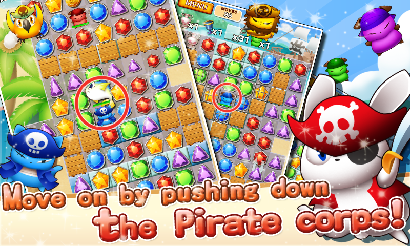 Jewel Pirates - Puzzle game- screenshot