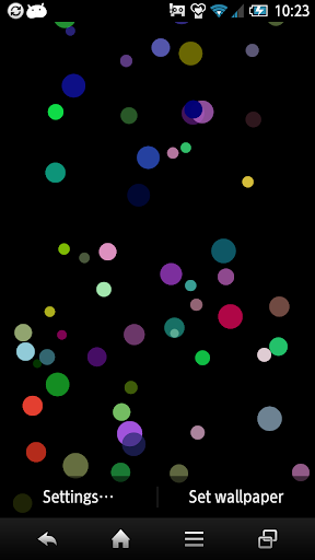 Colorful Ball Live Wallpaper