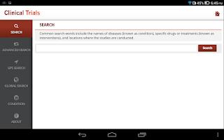Screenshot of Ongoing Trials