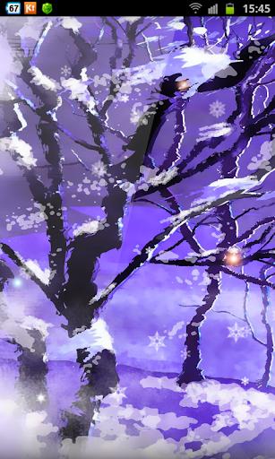 Snow Scene Happy New Year HD