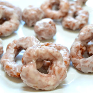 Homemade Glazed Donuts.