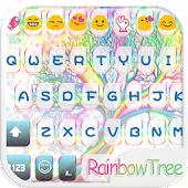 Rainbow Tree keyboard Whatsapp