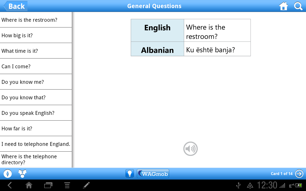 Learn Albanian by WAGmob - screenshot