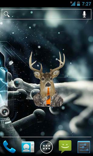 Deer Drinking a Beer Widget