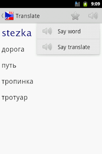 Vvs Russian Czech dictionary- screenshot thumbnail