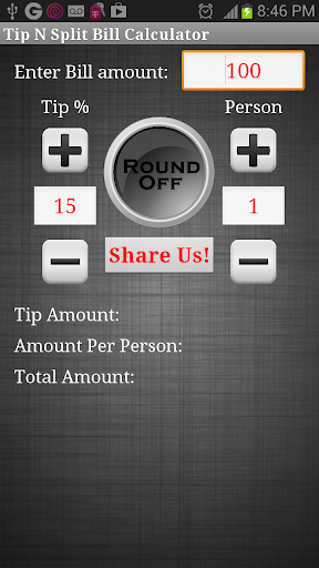 Tip N Split Bill Calculator