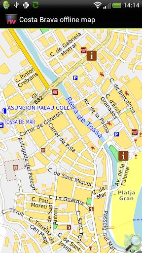 Costa Brava offline map