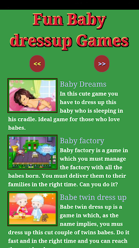 Fun Baby Dressup Games