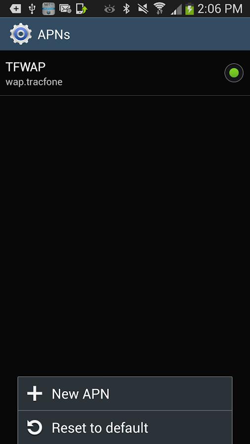Net10 Data Settings - screenshot