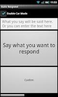 Screenshot of Auto Response