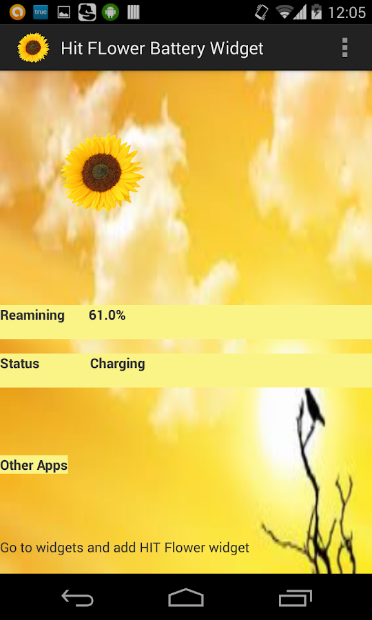 Flower Battery Indicator- screenshot