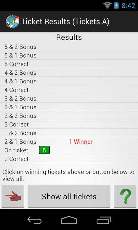 Lottery Checker- screenshot