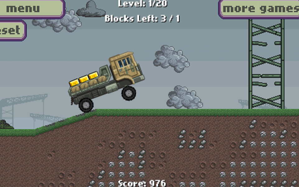 Army transport truck driver - screenshot