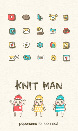 knit man icon theme