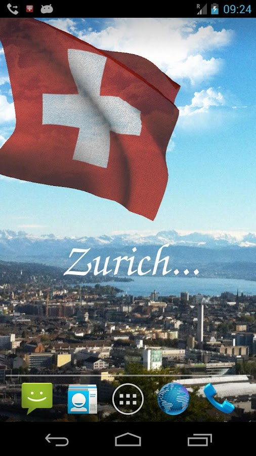 3D Swiss Flag Live Wallpaper - screenshot