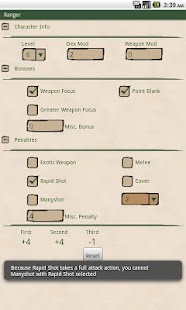 Ranger Attack Calculator- screenshot thumbnail