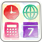 water color blooming Icon icon