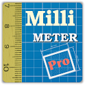 Millimeter Pro ruler on screen icon