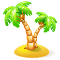 5 minute beach vacation icon