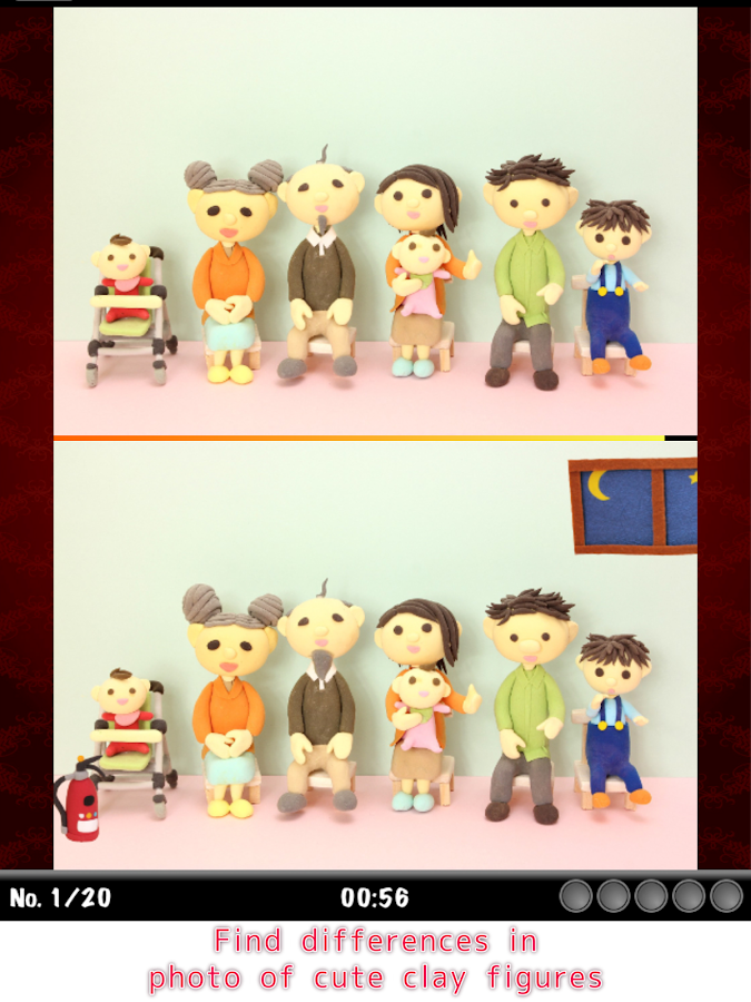 Find Differences - Clay models- screenshot
