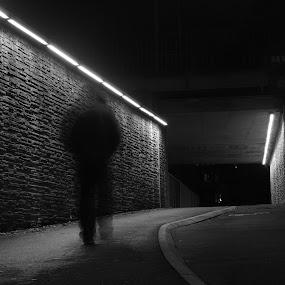Misty by Blerim Havolli - People Street & Candids ( havolli, blerim, night, norge, skien, shuterspeed, misty, norway )