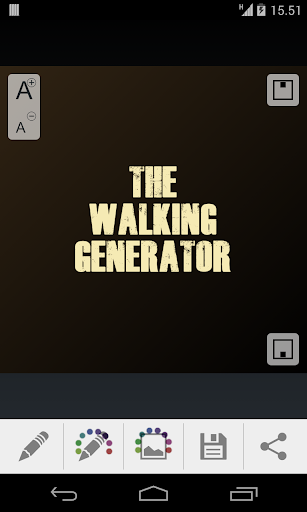 The Walking Generator