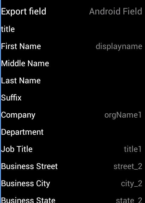 Contacts CSV Export Pro - screenshot