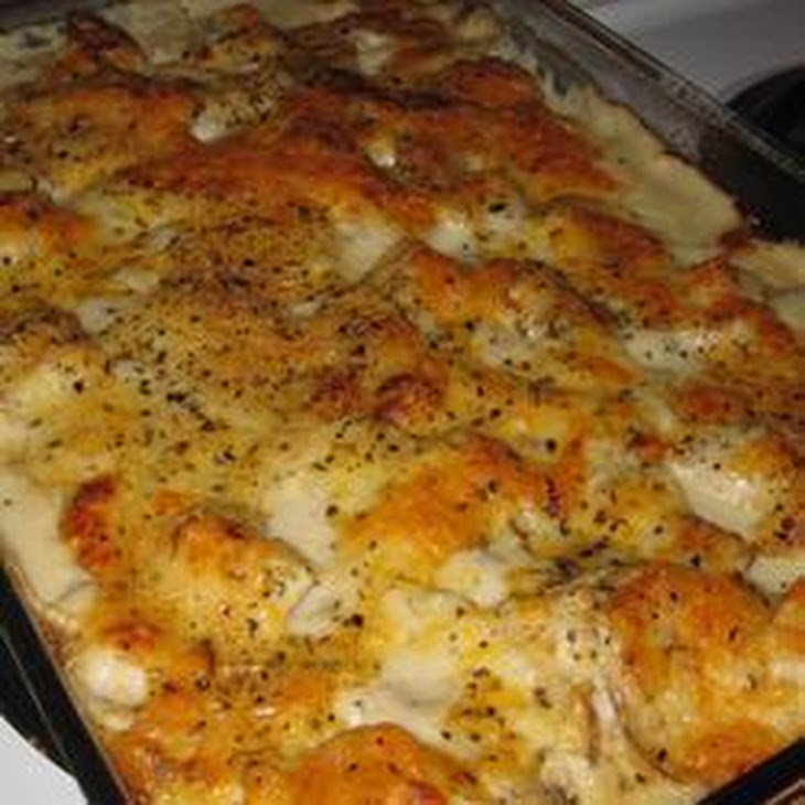 Cheesy Potato and Ham Bake