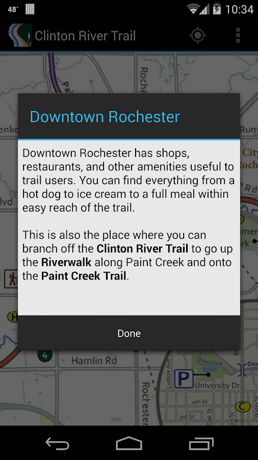 Clinton River Trail Map- screenshot
