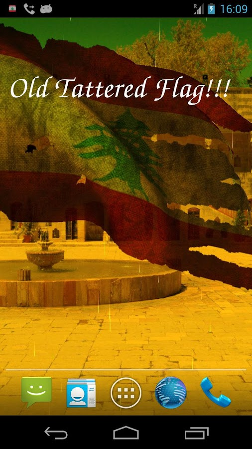 3D Lebanon Flag Live Wallpaper- screenshot