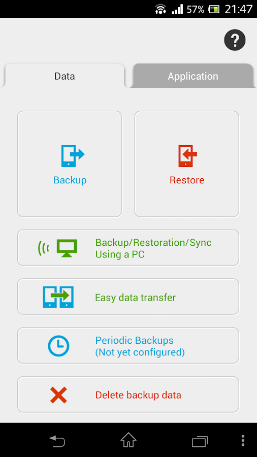 JS Backup - screenshot