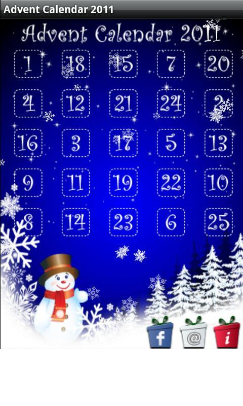 Christmas Advent Calendar 2011 - screenshot