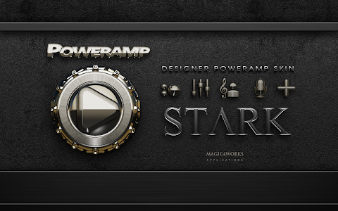 Poweramp skin Stark v1.40