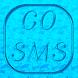 GoSMSPro Metallic Theme- Azure