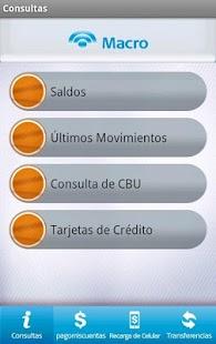Macro Banca Móvil - screenshot thumbnail