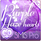 Purple Haze Hearts GO SMS PRO