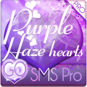 Purple Haze Hearts GO SMS PRO 個人化 App LOGO-APP試玩