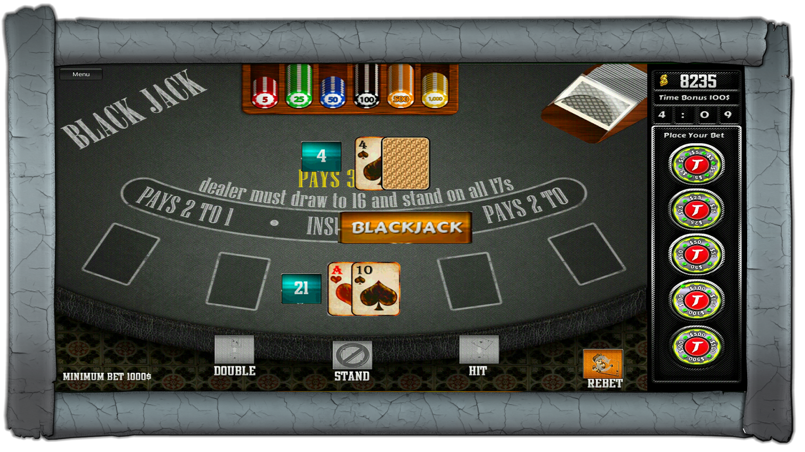21 Blackjack- screenshot