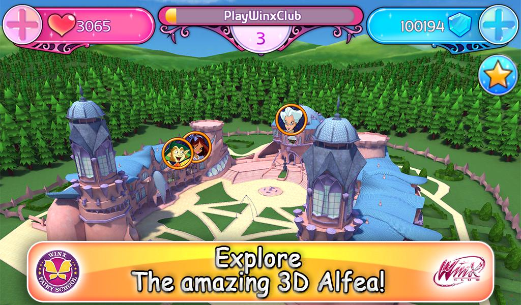 Winx Club: Winx Fairy School- screenshot